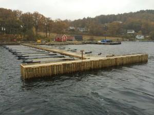 Avlevert betong kai. Båthavn. Brygger og Kaier Sokn As