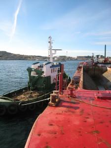 Ribo ( LEBE) Slepe dumping lekter i Risavika. Brygger og Kaier Sokn AS