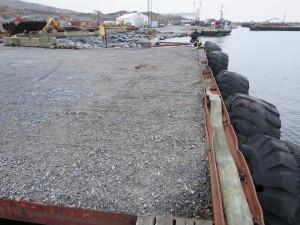 Laste kai. Grov Industritomt på Hanasand / Rennesøy. Brygger og Kaier Sokn AS